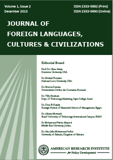 Journal of foreign languages, cultures & civilizations