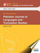 Pakistan journal of languages and translation studies