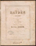 Haÿdée ou le secret, paroles de E. Scribe, mise en musique D. F. E. Auber