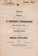 L'enfant prodigue : suite de valses